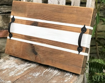 Reclaimed wood decorative serving tray, decorative tray, modern farmhouse decor, reclaimed wood tray