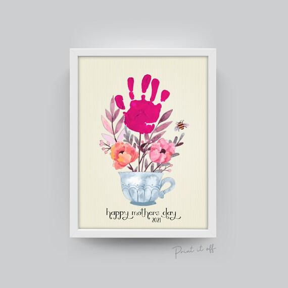 Handprint Teacup 2021 / Mother's Day / Footprint Handprint