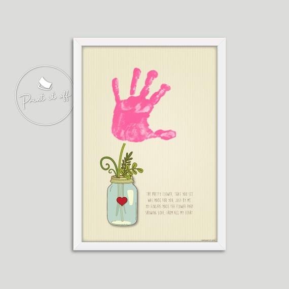 Handprint Art / One Flower / Keepsake Craft Baby Kids