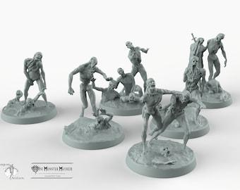 Zombie Horde - Mini Monster Mayhem Wargaming Miniatures Games Undead D&D DnD Pathfinder SW Legion Skeleton Army