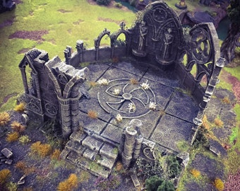 Rampage - Ruined Gothic Abbey 15mm 28mm 32mm Wargaming Terrain D&D, DnD, Pathfinder, SW Legion