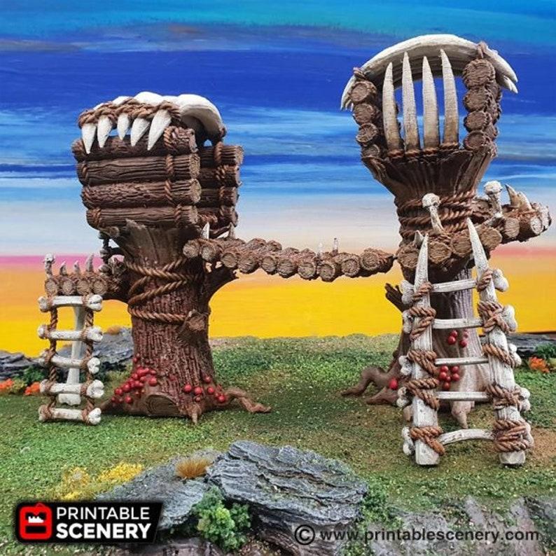 The Lost Islands - Tribal Cells - 28mm 32mm Wargaming Terrain D&D,  Pathfinder, SW Legion, Warhammer, 40k, Pirates