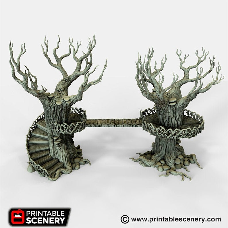 Elven Walkway Elves and Demons Warhammer Dwarves DnD SW Legion Pathfinder Pirates 40k 28mm Wargaming Terrain D/&D