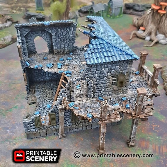 Pirates 15mm 28mm 32mm Wargaming Terrain D/&D 40k SW Legion Ruined Lighthouse DnD Pathfinder Warhammer The Lost Islands