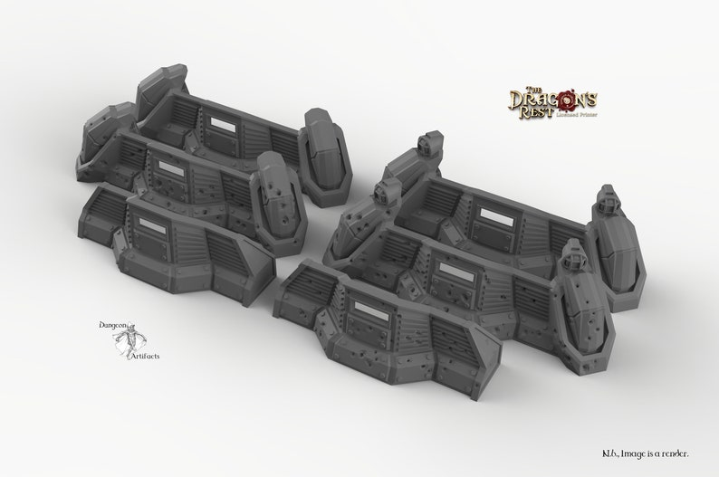 15mm 28mm 32mm Dragon/'s Rest Wargaming Terrain Scatter D/&D DnD Pathfinder Warhammer 40k Sci-Fi Defense Barricades