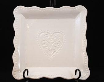 Handmade Square Heart Plate
