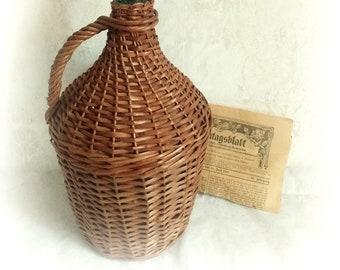 Old basket bottle wine bottle balloon bottle