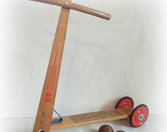 Vintage Scooter Children's Scooter Wooden Scooter Nostalgic