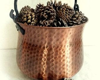 XXL Copper Pot Copper Kettle Flowerpot vintage
