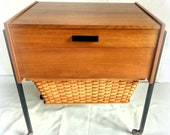 Sewing trolley sewing box trolley vintage retro 50s 60s