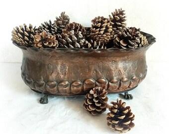 Ancient Jardiniere Flower Box Planter Copper Metal