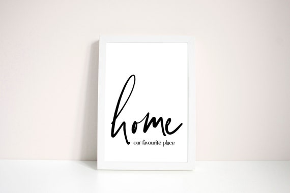 home quotes framed typography print