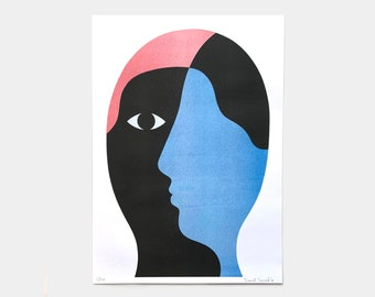 """Risography 30 x 42 cm limited edition """"No face"""""""