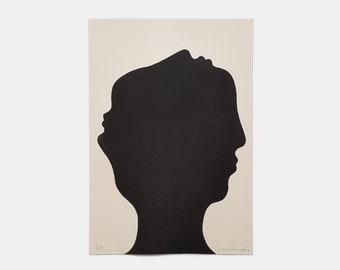 "Linogravure 21 x 30 cm limited edition ""3D"""