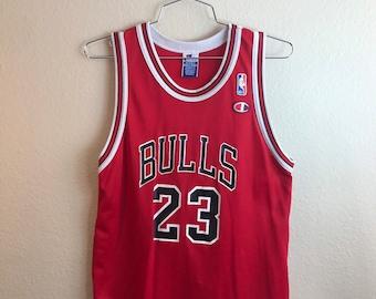 da1ac1058 Chicago Bulls Michael Jordan Vintage Champion Jersey (Kids)
