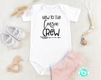 BOHO Hipster Baby shirt Newborn Coming Home Onesie\u00ae New to the Cousin Crew Baby Onesies\u00ae New Baby Boy Girl Cousin Shirt Baby Shower Gift