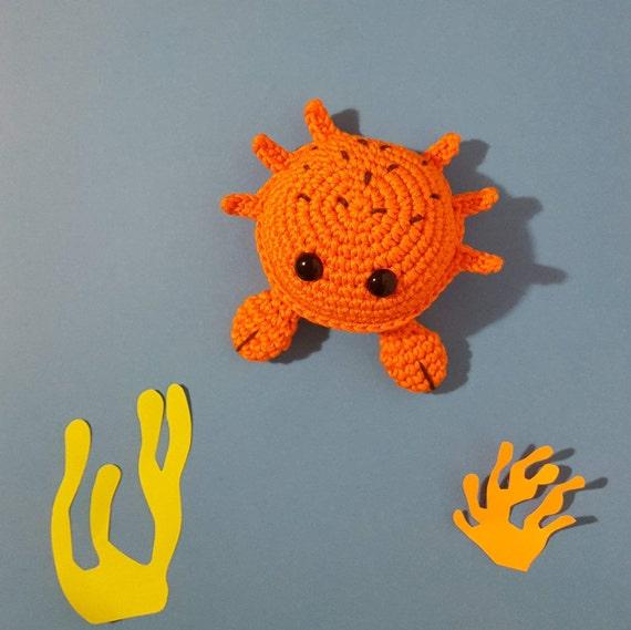 Vintage Knitting PATTERN to make Crab Stuffed Animal Baby Sea Toy KnittedCrab