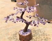 Amethyst Reiki Tree Natural Healing Gemstone Crystal Money Tree for Good Luck Home Decor Gift