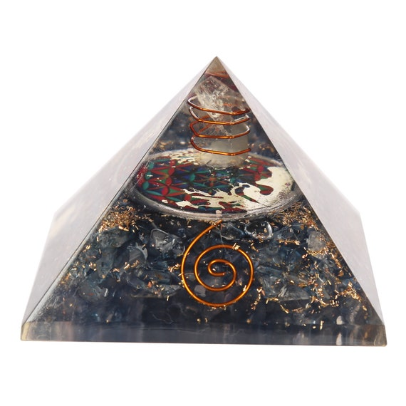 Extra Large 65-70mm Multistone Tree of Life Orgone Pyramid Energy Generator
