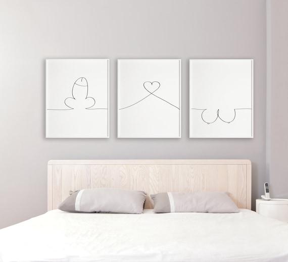 Dressing room 2 x print set fashion bedroom Quote prints