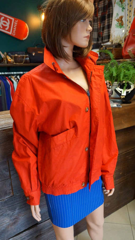 Cacharel parka jacket, Cacharel vintage red jacke… - image 4