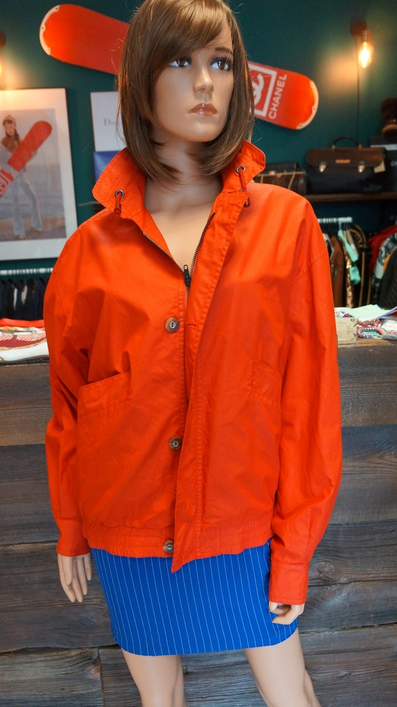 Cacharel parka jacket, Cacharel vintage red jacke… - image 3