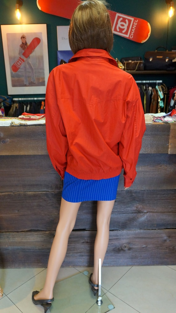 Cacharel parka jacket, Cacharel vintage red jacke… - image 6