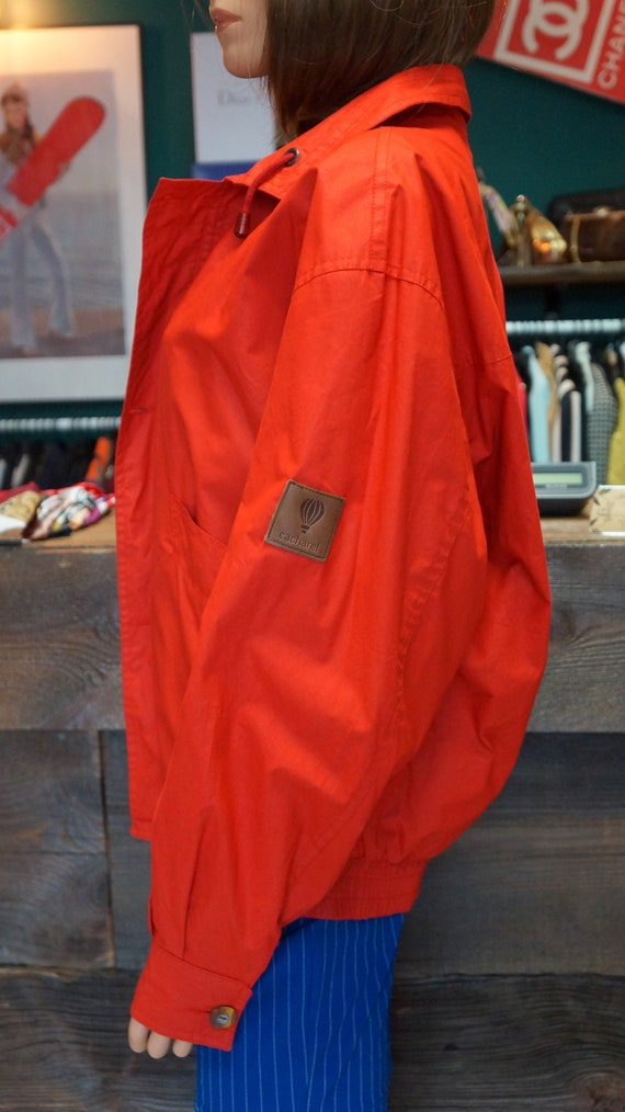 Cacharel parka jacket, Cacharel vintage red jacke… - image 9