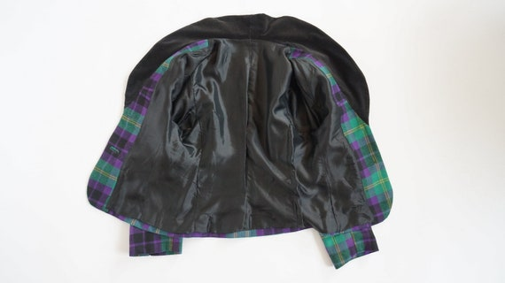 vintage wool jacket checked vintage jacket gift for her wool size large Ann Mar