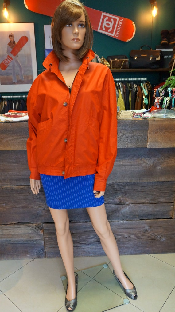 Cacharel parka jacket, Cacharel vintage red jacke… - image 1