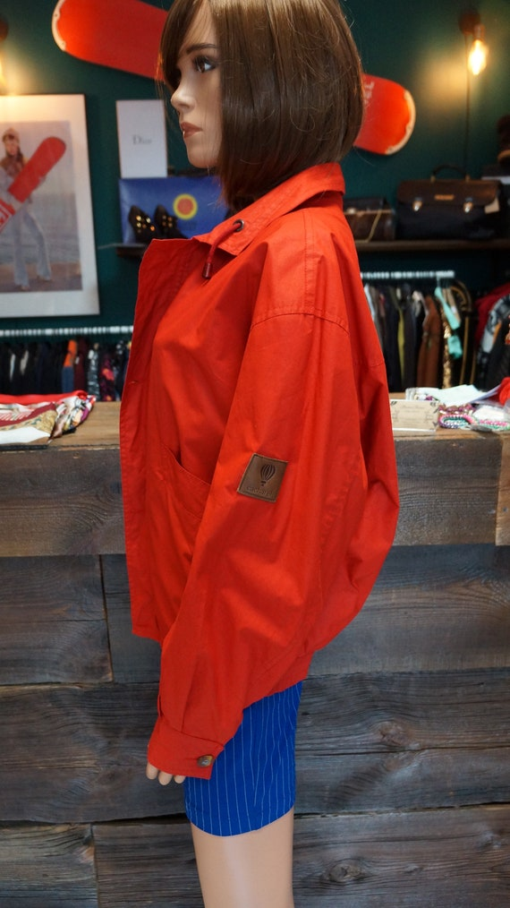 Cacharel parka jacket, Cacharel vintage red jacke… - image 7