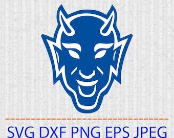 a6388c88446 SVG Duke Blue Devils logo Vector Layered Cut File Silhouette Cameo Cricut Design  Template Stencil Vinyl Decal Tshirt Heat Transfer Ironon