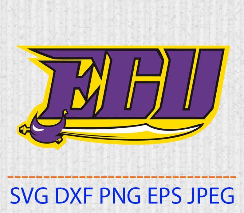 208455b5555 SVG ECU Pirates logo Vector Layered Cut File Silhouette Cameo