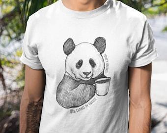 69ad3baec Today's forecast / Panda Theme / Panda x Coffee edition / Panda T-Shirt /  Panda Gift / Calm Panda / Cute Panda / Panda Gift Idea / Coffee