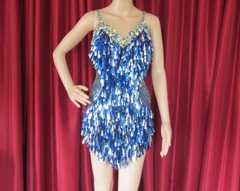 G71 Party Latin Dance Drag Queen Sequin Costume XS-XL