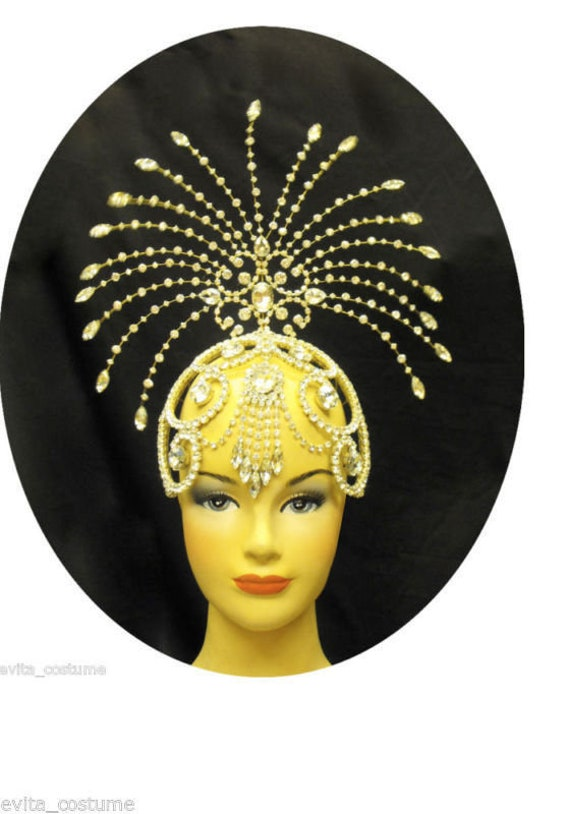 Da NeeNa Q Showgirl Ballet Queen Beaty Pageant Headdress Crown Tiara