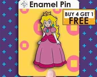 d23a9d38 Princess Peach Pin Mario Enamel Pin Pins Pin Lapel Pin Custom Pins Hat Pins  Cool Pin Bag Pins