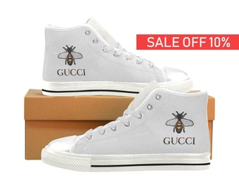 official photos 7aee2 bce90 Gucci High Top, Gucci Sneakers, Gucci Shoes, Gucci Custom Shoes, Gucci  Custom Sneakers, Gucci, Gucci Men Women Kids High Top Shoes Handmade