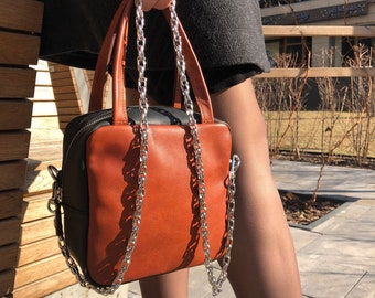 5a045bdf3732 Leather Bag Brandy Leather Tote Bag For Women Gift for Her Lifetime Leather