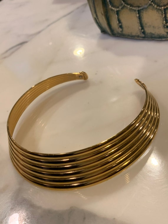 Vintage monet gold choker