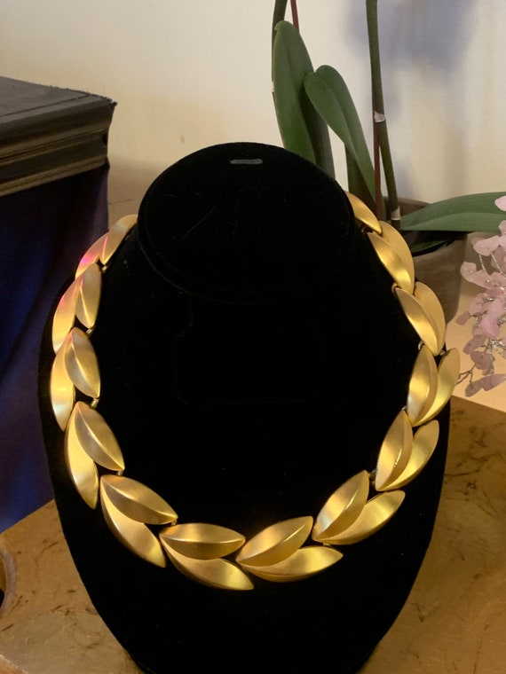 Gold leaf Givenchy choker