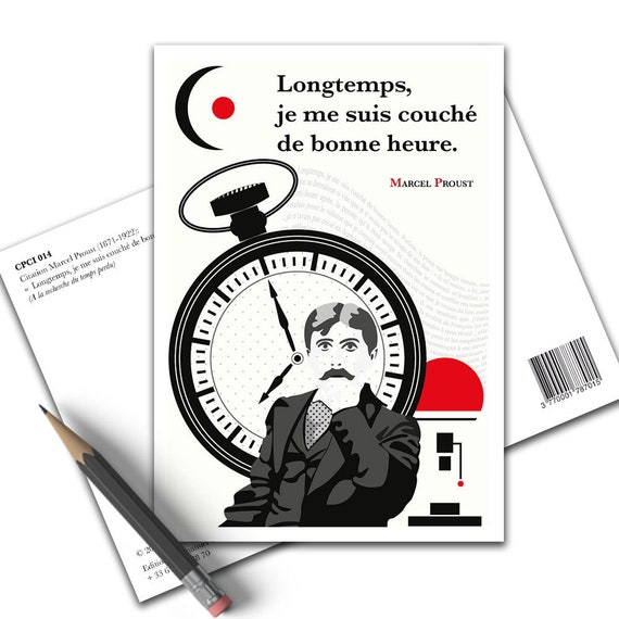 Inspirational Marcel Proust Long I Went To Bed Early Literature Poster Writer A Search Of Lost Time