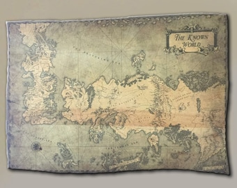 The Known World Map Etsy