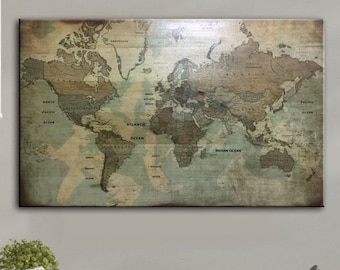 Map wall decor | Etsy Qq Map on