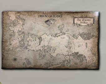 The known world map | Etsy on game of thrones continents, game of thrones world map pdf, game of thrones maps and families, ice and fire world map, sca known world map, game of thrones chart,