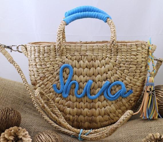 bread box beach bag water hyacinth bag Straw bag briedsmaid tote sea-grass bag totes bag Straw beach bag personalized bag