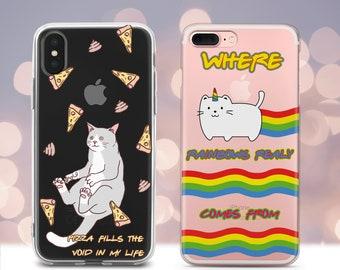 iPhone 8 s5 case Unicorn Samsung Galaxy S9 Plus case X S6 Edge S8 5s,SE,kawaii gift Note 8 case iPhone 6 case s7 horse case 7 Plus