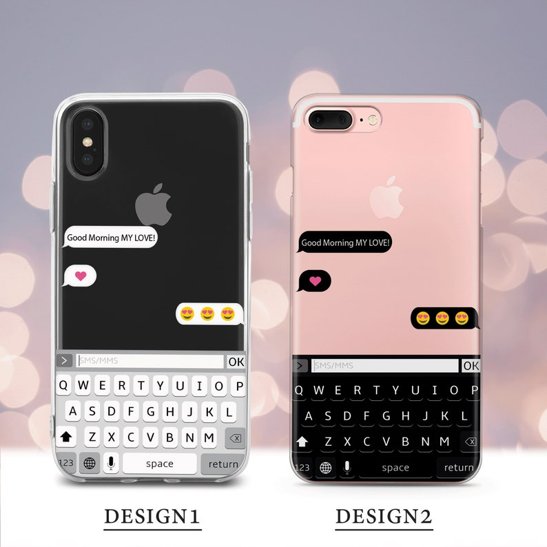 Cute case for iPhone case 4 5 5s SE 6 6s 7 8 Plus X XR XS Max for Samsung  case S7 S8 S9 Plus Edge Note Galaxy Text Message Anime phone case