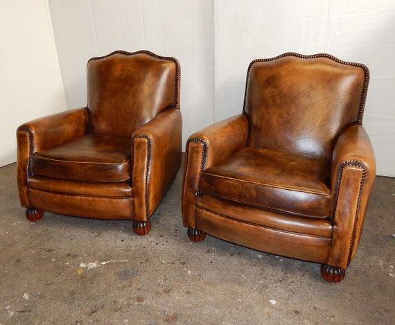 Stupendous French Art Deco Leather Club Chairs Reproduction Camellatalisay Diy Chair Ideas Camellatalisaycom