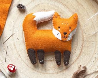 Sew your Own Felix the Fox Felt DIY Sewing Kit, woodland nursery decor, DIY christmas decoration, tree decoration, fox, woodland christmas
